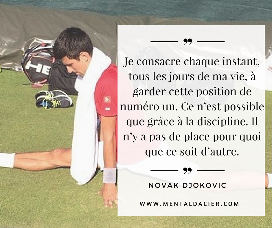 Comment devenir professionnel au tennis - djokovic